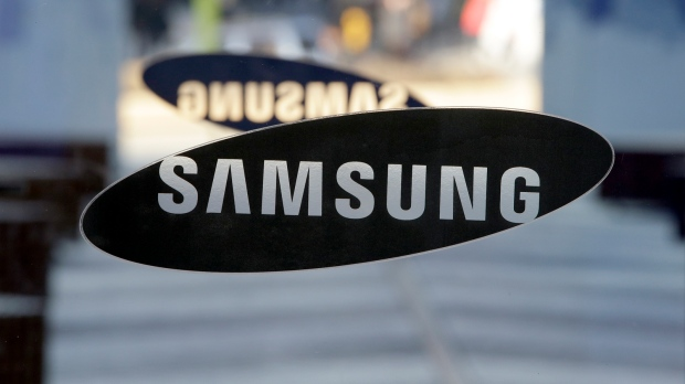 A logo of Samsung Electronics is seen at its showroom in Seoul, South Korea on Thursday, Jan. 8, 2015. (AP / Lee Jin-man)