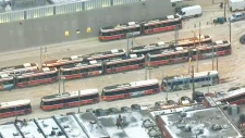 Streetcars out of service due to cold