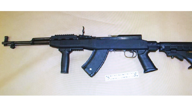 Windsor police have released a photo of a SKS 7.62 x 39 Calibre rifle seized from a Wyandotte Street apartment. (Windsor police)