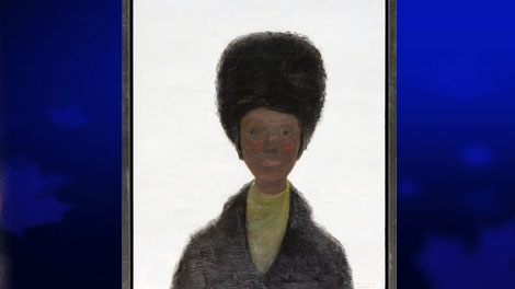 'Girl with Fur Hat,' oil on canvas, by famous Canadian painter Jean-Paul Lemieux is shown in a handout photo. It is among 20 valuable pieces of art the Department of Foreign Affairs has designated for sale, with an estimated market value of $300,000. (Department of Foreign Affairs and International Trade Canada)