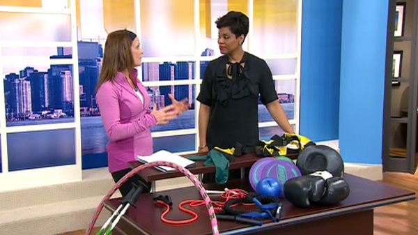 Fitness expert Libby Norris shows Canada AM how to step up a summer workout, Monday, April 30, 2012.