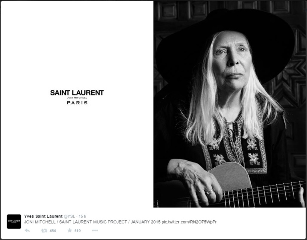 Joni Mitchell Yves Saint Laurent