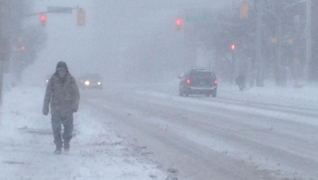 Snow on Weber Street