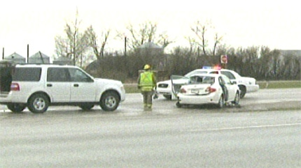 RCMP were called to a fatal collision near Chestermere on Tuesday, May 1, 2012.