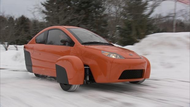 Elio three-wheeled car