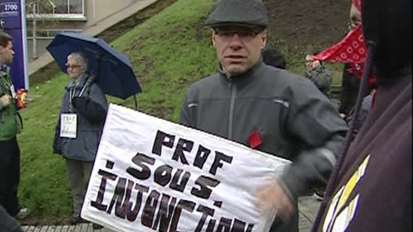 Many teachers at College de Maisonneuve support the tuition protests (May 1, 2012)