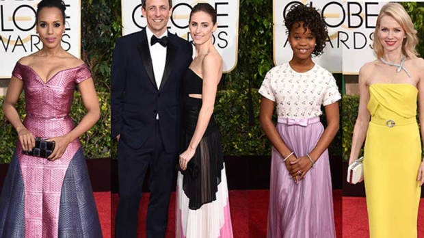 On the Red Carpet at The Golden Globes, some stars chose muted colours for their fashion statements and looked like they had walked out of a watercolour painting.