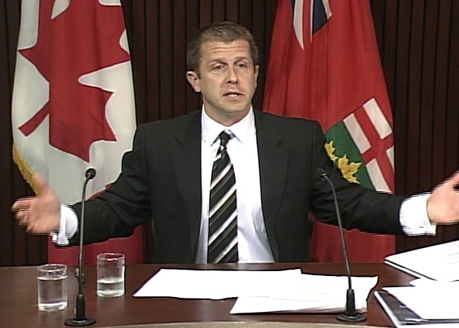 Ontario Ombudsman Andre Marin speaks during a press conference at Queen's Park in Toronto on Tuesday, Sept. 30, 2008.