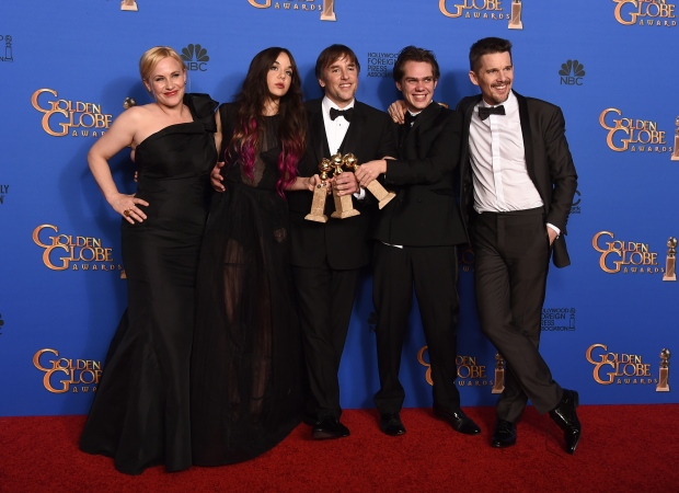 Cast of Boyhood at Golden Globes