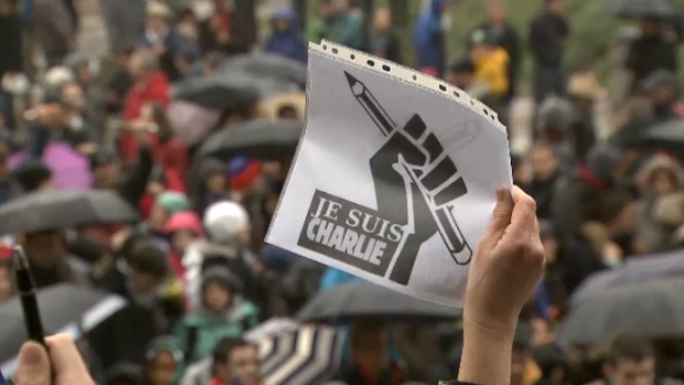 JE SUIS CHARLIE VANCOUVER PROTEST