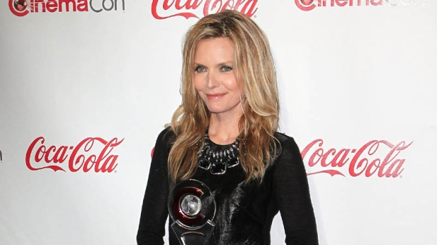 Actress Michelle Pfeiffer arrives at the CinemaCon 2012 Big Screen Achievement Awards to receive the Cinema Icon Award, Thursday, April 26, 2012, in Las Vegas.
