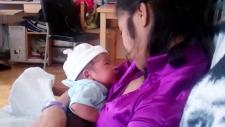 Maricyl Palisoc with her newborn son William