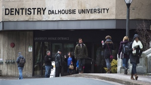 The Dalhousie University dentistry building is seen in Halifax on Monday, Jan. 12, 2015. (Andrew Vaughan / THE CANADIAN PRESS)
