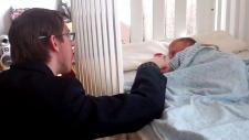 Charles Wilton with newborn son William