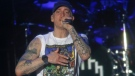 Eminem performs at the Austin City Limits Music Festival in Austin, Tex., on Saturday, Oct. 4, 2014. (Invision / Jack Plunkett)