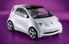 Toyota iQ - the world's smallest four-seat urban city car.