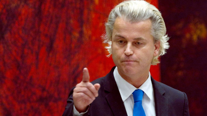 Dutch populist firebrand Geert Wilders is shown in this file photo. (The Associated Press)