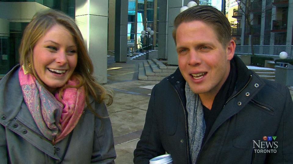 Elizabeth Gallagher and Jordan Axani speak to CTV Toronto on Tuesday, Jan. 13, 2015.