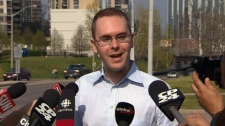 Toronto Star reporter Daniel Dale speaks to media on Thursday, May 5, 2012.