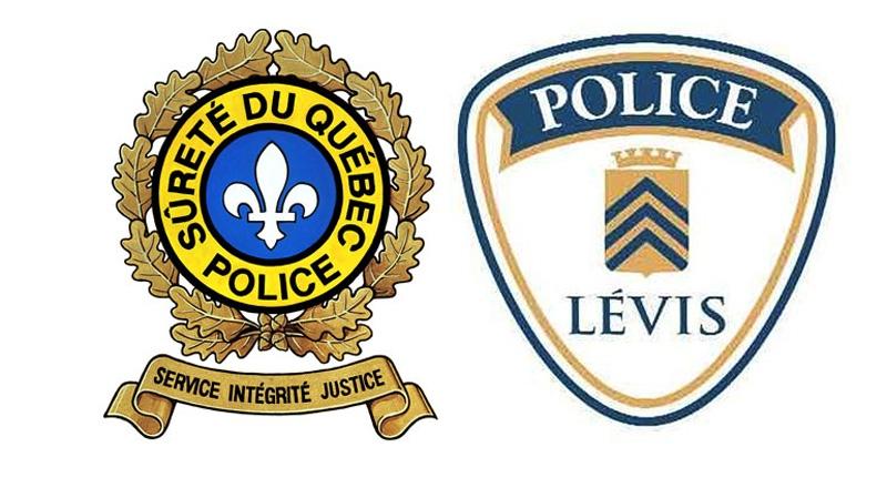 Surete de Quebec crest and the Levis police crest
