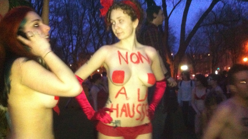 Many protesters bared their feelings on the tuition issue. (Photo Marc Latendresse)