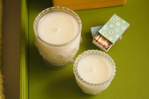 Amrita Singh of Pretty Frugal Living has a recipe for making your own candles.