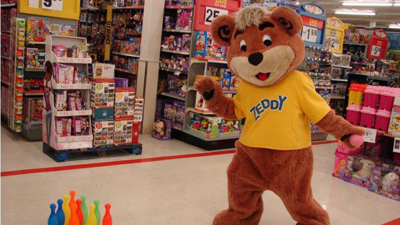 Zeddy, the mascot for the now-defunct retailer Zellers, is seen in an image from the blog Leopard is a Neutral (stephaniefusco.com).