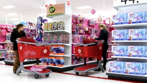 Shoppers browse at a Target store in Toronto