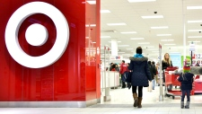 Shoppers enter a Target store in Toronto