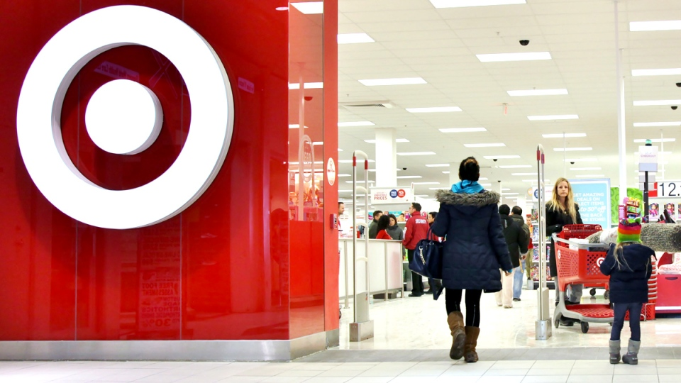 Shoppers enter a Target store in Toronto on Thursday, Jan. 15, 2015. (Colin Perkel / THE CANADIAN PRESS)