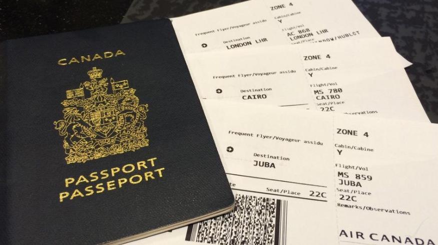 Final destination is Juba, South Sudan