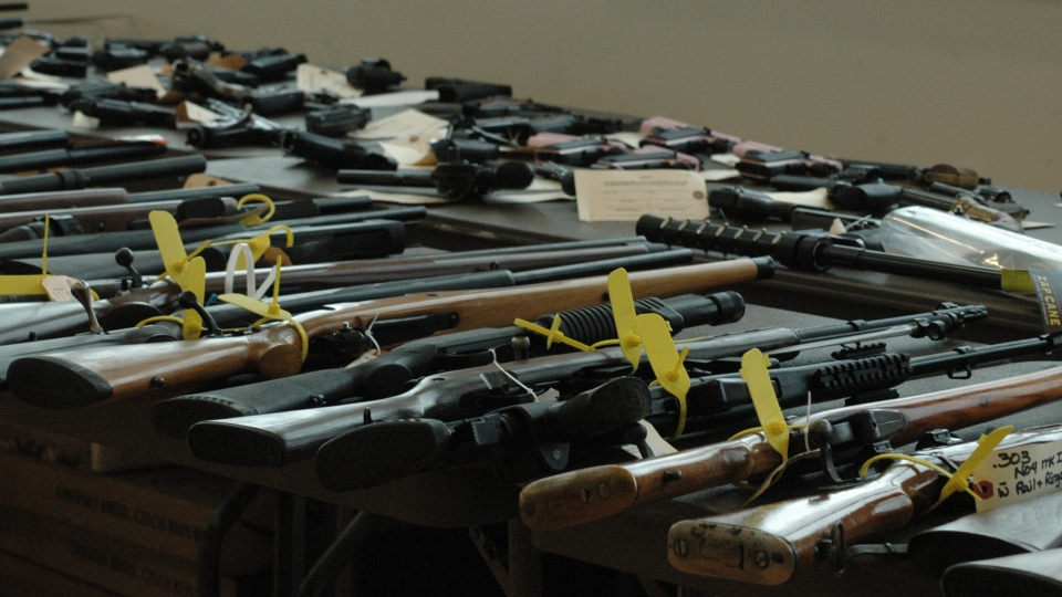 Saskatoon police and RCMP seized about 200 firearms as they raided nearly 20 homes throughout Saskatchewan and Alberta Wednesday.