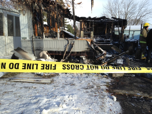 Fire Destroys Two Homes In Woolwich Trailer Park