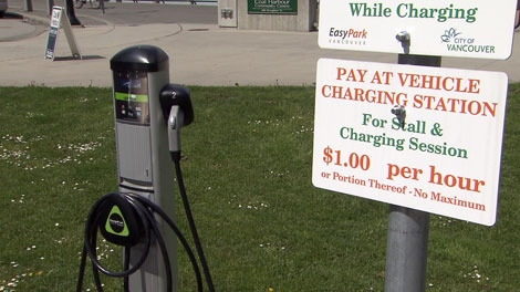 The City of Vancouver is proposing to construct three new electric car charging stations in Vancouver. May 5, 2012. (CTV)