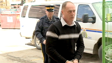 David Woods arrives at court facing first-degree murder of his wife Dorothy Woods.