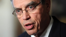 Minister of Natural Resources Joe Oliver speaks during a press conference on Parliament Hill in Ottawa on Monday, May 7, 2012. (Sean Kilpatrick / THE CANADIAN PRESS)