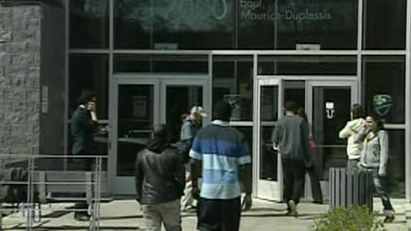 Students at CEGEP Marie-Victorin are voting Monday on the tuition hike agreement worked out over the weekend (May 7, 2012)