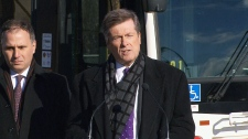 Tory makes TTC announcement