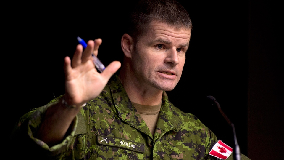 Brig.-Gen. Michael Rouleau, Commander Canadian Special Operations Forces Command, speaks during a technical briefing in Ottawa, Monday, Jan. 19, 2015. (Adrian Wyld / THE CANADIAN PRESS)
