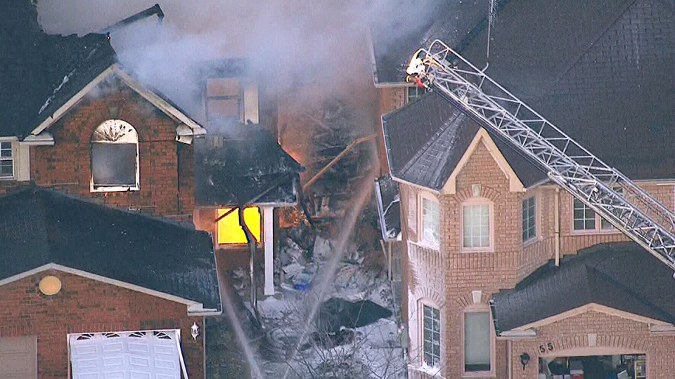 The blaze started at approximately 5 p.m. at a house on Coachwhip Road, near Bramalea Road and Bovaird Drive.