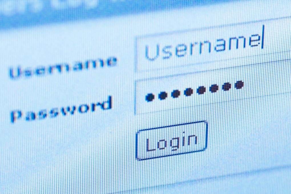 Online passwords like 'password' and '123456'