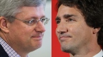 Prime Minister Stephen Harper and Liberal Leader Justin Trudeau are shown in this combination photo. (Darryl Dyck / Dave Chidley / THE CANADIAN PRESS)