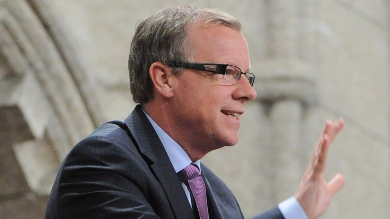 Premier of Saskatchewan Brad Wall is acknowledged by the House of Commons following Question Period in the House of Commons on Parliament Hill in Ottawa on Tuesday, March 6, 2012. THE CANADIAN PRESS/Sean Kilpatrick