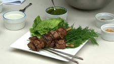 Chef Rob Rainford cooks some delicious barbeque dishes for Canada AM, Tuesday, May 8, 2012.