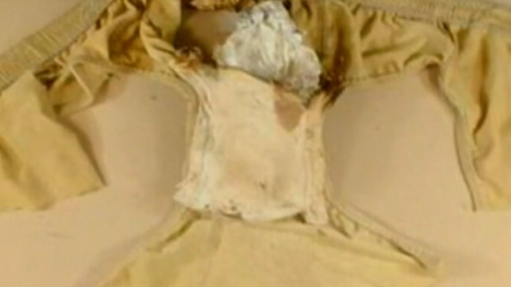 This image taken form video shows underpants with the explosive used on a failed plot to blow up an airliner over Detroit on Christmas Day, Friday, Dec. 25, 2009.