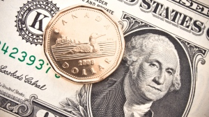 Canadian dollar against the U.S. money