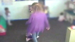 Daycare worker kicks child on camera