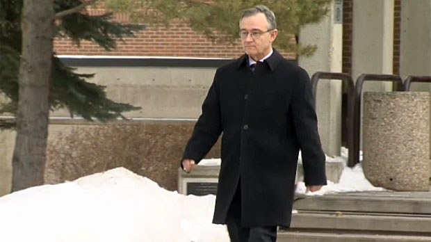Brian Malley leaves court in Red Deer on Wednesday, January 21, 2015.