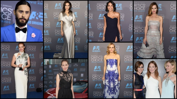Stars step out in wispy winter colours, from stark whites and sparkling greys, to warm and vibrant blues.  The frosty fashion cools down the red carpet as award season in Hollywood heats up at the People's Choice Awards.