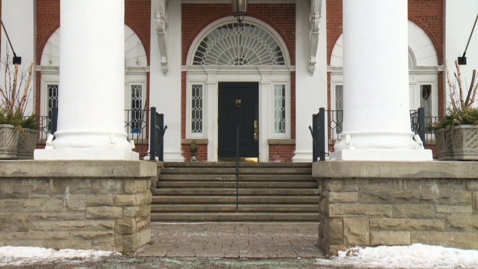 The entrance to Langdon Hall is seen on Wednesday, Jan. 21, 2015.